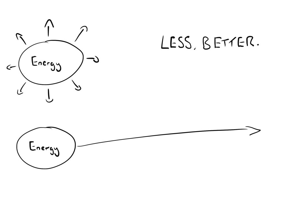 less, better