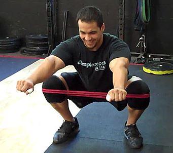banded squat